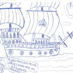 """Kiedyś Król Zygmunt August wybudował galeon """"Smok"""", ale Król zmarł a po okręcie zaginął słuch..."""